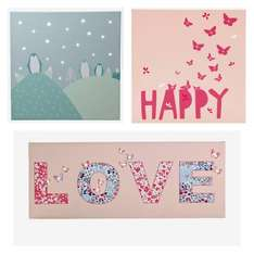 Vertbaudet light up canvases reduced from £29 to £11.60