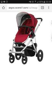 fantastic price for this Britax Smile Pushchair & Carry Cot - Red, black or silver was £589 now only £199 @ Argos