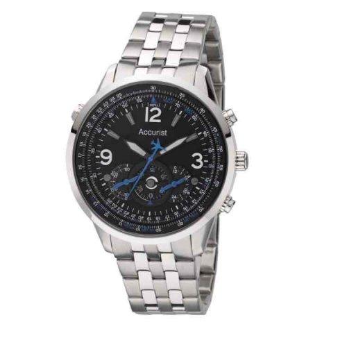 Accurist men's stainless steel bracelet chronograph watch £30 ernestjones