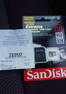SanDisk Extreme 32GB SDHC £12 in store Tesco
