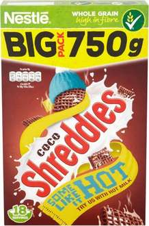 Nestle Coco Shreddies Cereal (750g) was £3.39 now £2.00 @ Tesco