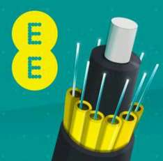 EE Home 38 Meg Unlimited Fibre Broadband from £28.50 (£21.95 pm after cashback etc) + 5GB mobile data per month using £125 from TCB 18 month deal £513 term