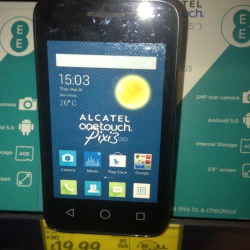 Alcatel pixie 3 - asda - 19.99 - no top up