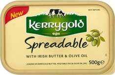 Kerrygold Spreadable with Irish Butter Blended with Olive Oil & Lighter Spreadable with Irish Butter Blended with Olive Oil (500g) was £2.50 now £1.87 @ Waitrose