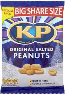 KP Nuts Original Salted Peanuts 450g ONLY £1.00 @ Morrisons