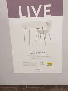 Table and 4 Chairs - £40 - Tesco instore