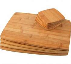 HOME Bamboo Placemats x 4 & Coasters x 4 £7.99 WAS £14.99 Argos (Free C&C)
