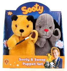 The Sooty Show: Sooty and Sweep Puppet Set £13.79 @ Argos via eBay (30% Knocked Off @ Checkout)