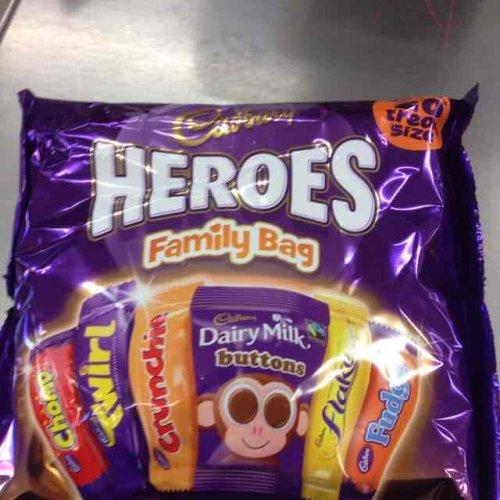 Cadbury heroes treat size £1 @ farmfoods