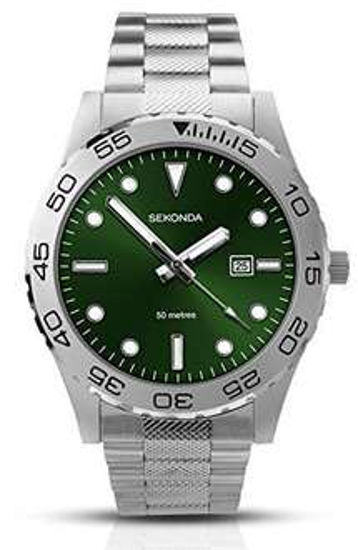 Sekonda 1131 Men's Quartz Watch with Green Dial £14.56 (prime) / £18.55 (non Prime) @ Amazon
