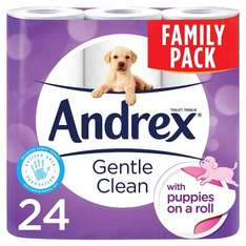 Andrex Gentle Clean 24 rolls toilet paper £8 @ Poundworld