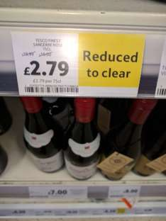 Tescos finest Sancerre Rose reduced from £10.99 to £2.79 instore