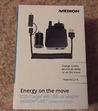 Medion USB Charger With USB Car Adapter 2.1A - ALDI instore - £4.99