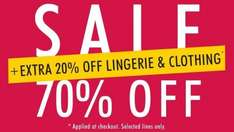 Ann Summers sale - extra 20% off lingerie & clothes