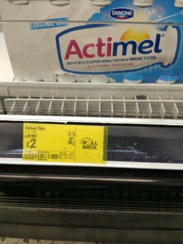 Actimel 12 pack £2 - Asda