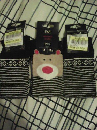 F&F womens socks 50p at Tesco instore
