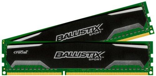 Ballistix Sport 16 GB Kit (8 GB x 2) DDR3 1600 MT/s (PC3-12800) UDIMM 240-Pin Memory £58.09 @ Amazon (lightning deal)