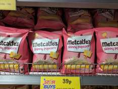 Metcalfe's Skinny Popcorn 70G -  39p at Home Bargains