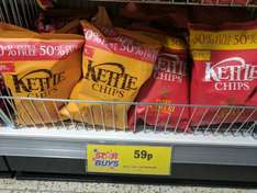 Kettle Chips Mature Cheddar & Red Onion / Sweet Chilli & Sour Cream 150G - 59p at Home Bargains