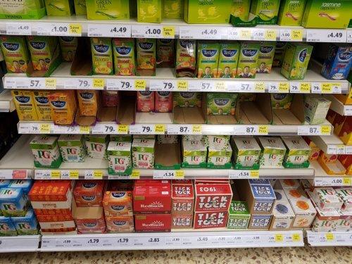 Tetley health tea bags 57p to 79p @ Tesco