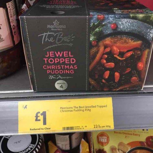 jewel topped Christmas pudding £1 @ Morrisons