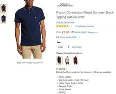 French Connection Men's Summer Black Tipping Casual Shirt £9 Prime / £12.99 Non-Prime @ Amazon