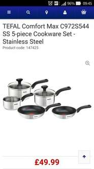 Tefal Induction Technology 5  Set £49.99 @ Currys