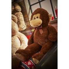 90cm Soft cuddly toys - Mike The Monkey / Tom The Tiger reduced to £2.50 (Free C+C) @ Wilko