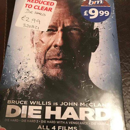 Die Hard All Four Movies Quadrilogy DVD Set £2.99 B&M