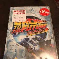 Back To The Future 30th Anniversary Trilogy DVD £4.99 B&M