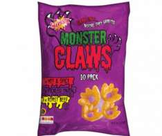 lidl monster claws & cheese puffs 10 pack half price at 49p