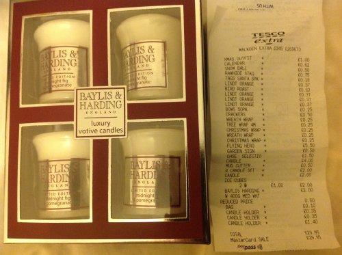 Baylis & Harding candle set (4) scanning @ £2 shelf price £8 Tesco - Walkden