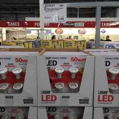 LED GU10 Dimmable bulbs 4 pack £5.98 instore at Costco