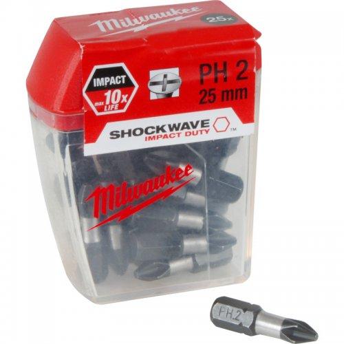 Milwaukee Shockwave Impact Screwdriver Bits PH2 x 25mm £3.49 @ Toolstation