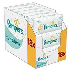 Pampers sensitive baby wipes pack of 18 with subscribe and save £7.97 @ Amazon