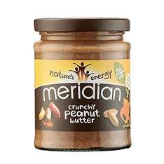 Meridian Natural Crunchy Peanut Butter (Pack of 6) + FREE delivery - £5.70 (s&s) @ Amazon