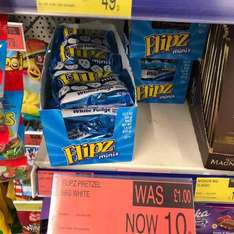 Flipz mini white fudge pretzels 10p @ b&m