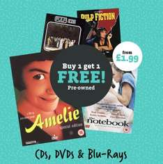 Buy One Get One Free (Pre-Owned) on DVD, Blu Ray & Music CDs - £1.99 - Music Magpie