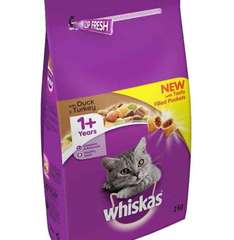 Whiskas 1+ Cat Complete Dry with Duck and Turkey, 2 kg - Pack of 4 @ Amazon for £10.20 when you S&S 5 items