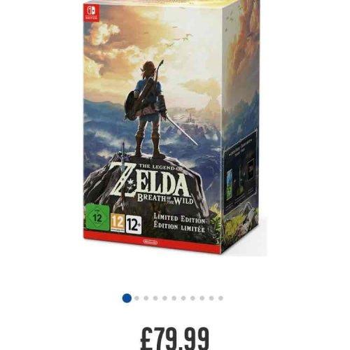 Legend of Zelda BOTW LE Nintendo Switch £79.99 @ Argos