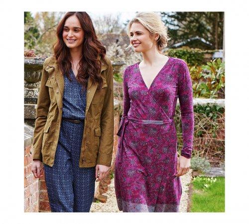 Cherokee Women's Purple Ethnic Print Wrap Dress-  for £3.60 @ Argos (Free C&C)