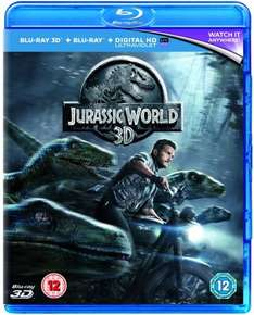 Jurassic World (3D Edition with 2D Edition) [Blu-ray+HD UltraViolet] £5.41 w/code @ Zoom