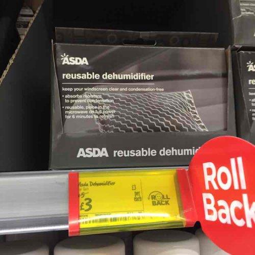 Asda reusable dehumidifier  £3 instore