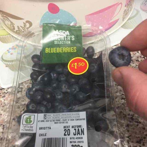 Asda Blueberries £1.50 for 200g - instore