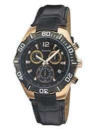 Accurist Men's Quartz Watch with Black Dial Chronograph Display and Black Leather Strap Ms837B £33.59 @ Amazon