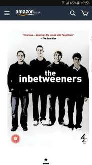 the inbetweeners dvd 99p (Prime) / £2.98 (non Prime) Sold by A ENTERTAINMENT and Fulfilled by Amazon.