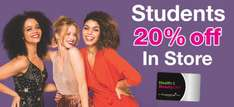 20% SUPERDRUG IN STORE WITH H&B CARD AND NUS EXTRA CARD