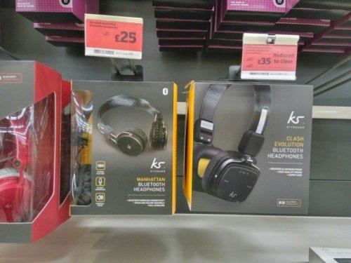 KS MANHATTAN bluetooth headphones £25 @ sainsburys