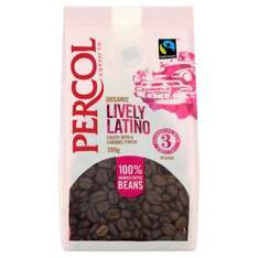 """Spotted in Poundland Eastbourne - possibly nationwide.Percol ,""""Lively Latino"""" Organic & Fair Trade coffee beans. Strength No 3. £1.00"""