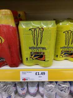 Pack of 4 Monster Energy's, Now have Original and Valentino Rossi Edition £1.49 @ Herons